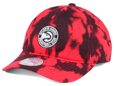 Atlanta Hawks Mitchell & Ness NBA Multi Color Acid Wash Dad Hat