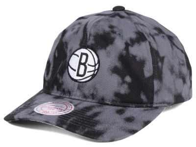 Brooklyn Nets Mitchell & Ness NBA Multi Color Acid Wash Dad Hat