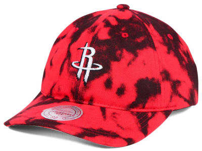 Houston Rockets Mitchell & Ness NBA Multi Color Acid Wash Dad Hat