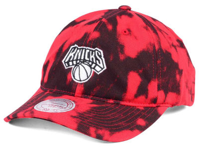 New York Knicks Mitchell & Ness NBA Multi Color Acid Wash Dad Hat