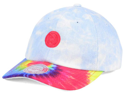 Atlanta Hawks Mitchell & Ness NBA Denim Tie Dye Dad Hat