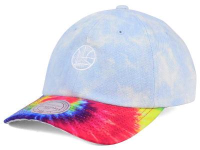best sneakers f3f40 9892b Golden State Warriors Mitchell   Ness NBA Denim Tie Dye Dad Hat