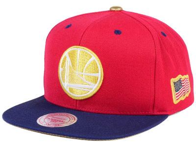 Golden State Warriors Mitchell & Ness NBA USA 2Tone 2.0 Snapback Cap