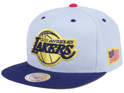 Los Angeles Lakers Mitchell & Ness NBA USA 2Tone 2.0 Snapback Cap