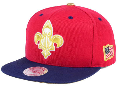 New Orleans Pelicans Mitchell & Ness NBA USA 2Tone 2.0 Snapback Cap