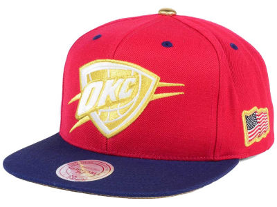 Oklahoma City Thunder Mitchell & Ness NBA USA 2Tone 2.0 Snapback Cap