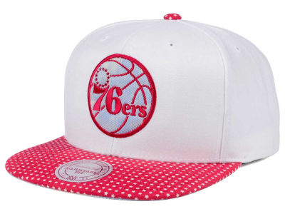 Philadelphia 76ers Mitchell & Ness NBA Stars and Wash Snapback Cap