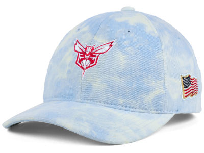 Charlotte Hornets Mitchell & Ness NBA USA Acid Washed Denim Dad Hat