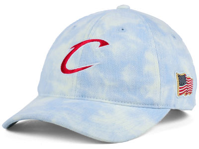 Cleveland Cavaliers Mitchell & Ness NBA USA Acid Washed Denim Dad Hat