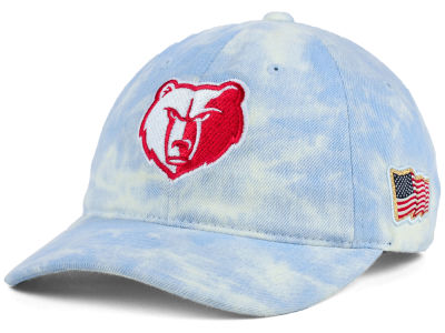 Memphis Grizzlies Mitchell & Ness NBA USA Acid Washed Denim Dad Hat