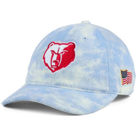 Memphis Grizzlies Mitchell & Ness NBA USA Acid Washed Denim Dad Hat
