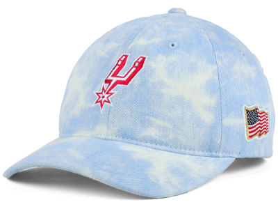 San Antonio Spurs Mitchell & Ness NBA USA Acid Washed Denim Dad Hat