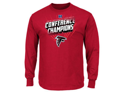 Atlanta Falcons Majestic NFL Men's Conference Champ Advancing Win Long Sleeve T-Shirt