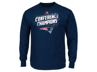 New England Patriots Majestic NFL Men's Conference Champ Advancing Win Long Sleeve T-Shirt