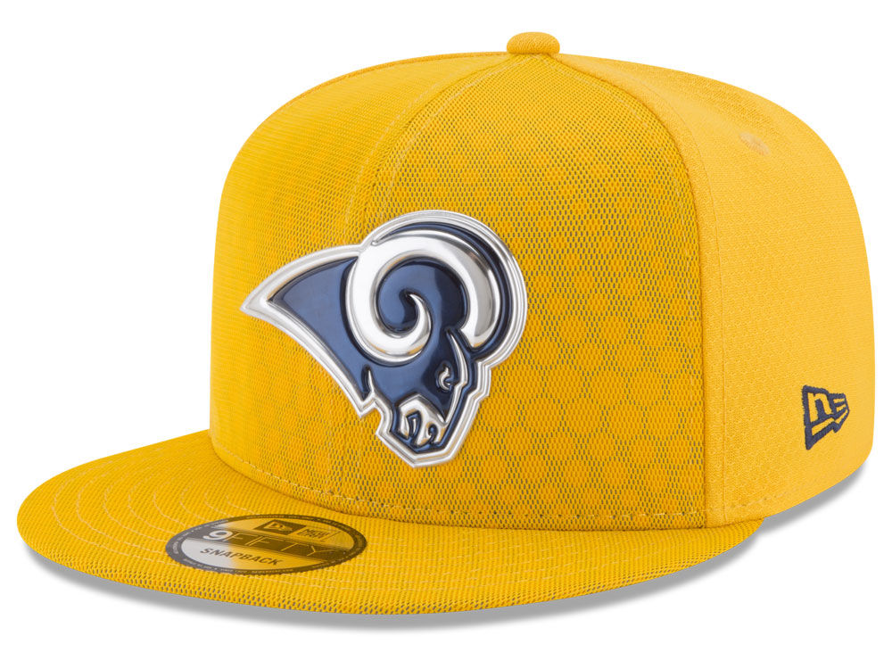 Los Angeles Rams New Era 2017 NFL On Field Color Rush 9FIFTY Snapback Cap  a98318796