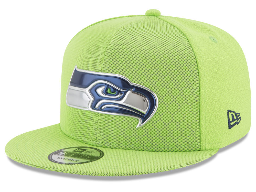 Seattle Seahawks New Era 2017 NFL On Field Color Rush 9FIFTY Snapback Cap  3886bdc8c