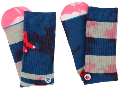 Boston Red Sox Stance MLB Tye Dye Crew Socks