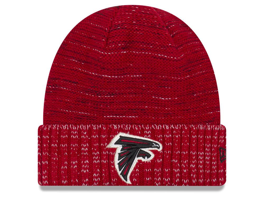 newest 10be5 f3c92 wholesale atlanta falcons new era 2017 nfl on field color rush cuff knit  a15e2 1eafa