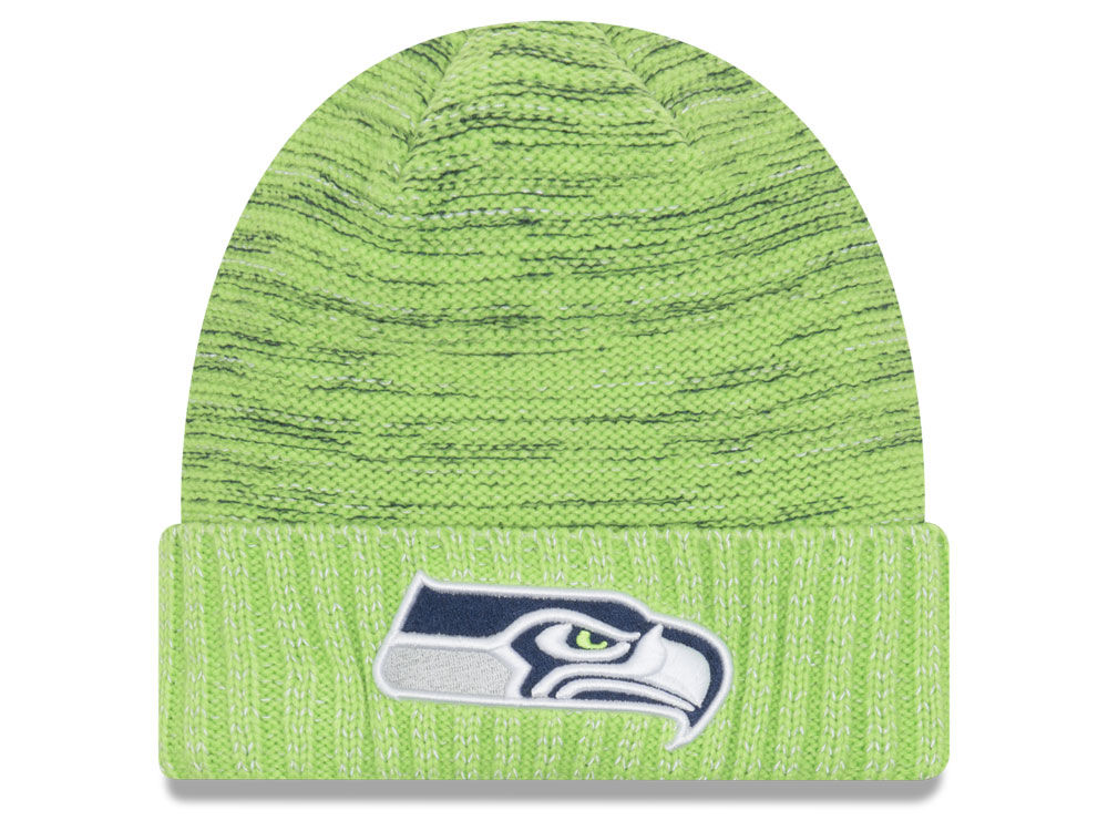 quality design e5470 6c912 discount seattle seahawks new era 2017 nfl on field color rush cuff knit  d6ff8 ce6fa