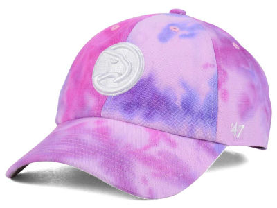 Atlanta Hawks '47 NBA Pink Tie-Dye '47 CLEAN UP Cap
