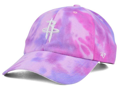 Houston Rockets '47 NBA Pink Tie-Dye '47 CLEAN UP Cap