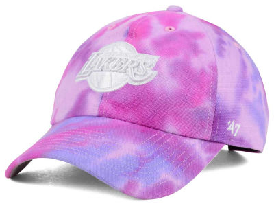 Los Angeles Lakers '47 NBA Pink Tie-Dye '47 CLEAN UP Cap