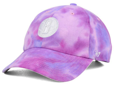 Brooklyn Nets '47 NBA Pink Tie-Dye '47 CLEAN UP Cap