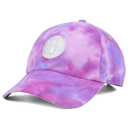 Brooklyn Nets '47 NBA Pink Tie-Dye '47 CLEAN UP Cap