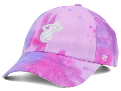 Miami Heat '47 NBA Pink Tie-Dye '47 CLEAN UP Cap