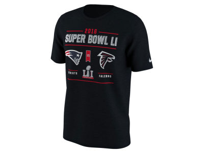 Super Bowl LI Nike NFL Men's Dueling Head to Head T-Shirt