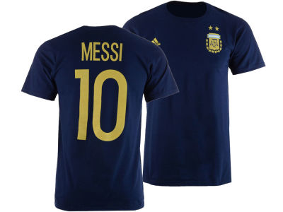 Argentina Lionel Messi adidas Men's National Team Jersey Hook Player T-Shirt