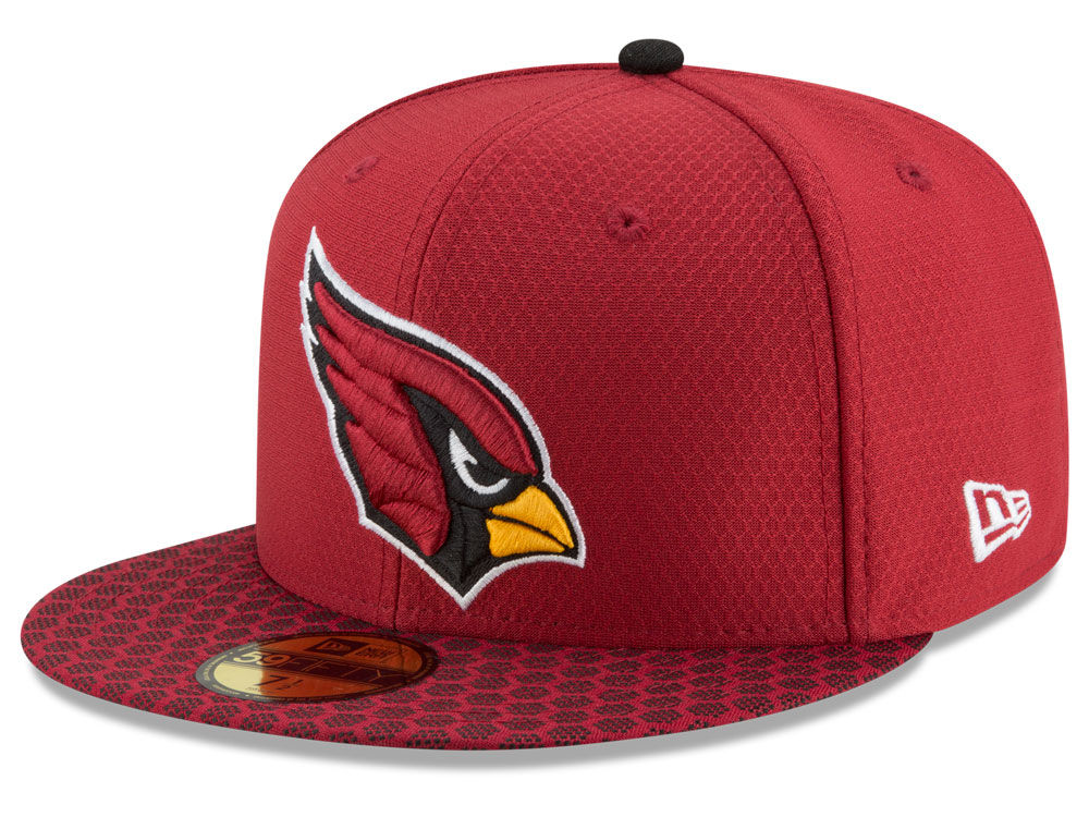Arizona Cardinals New Era 2017 Official NFL Sideline 59FIFTY Cap ... df3dfd7c2