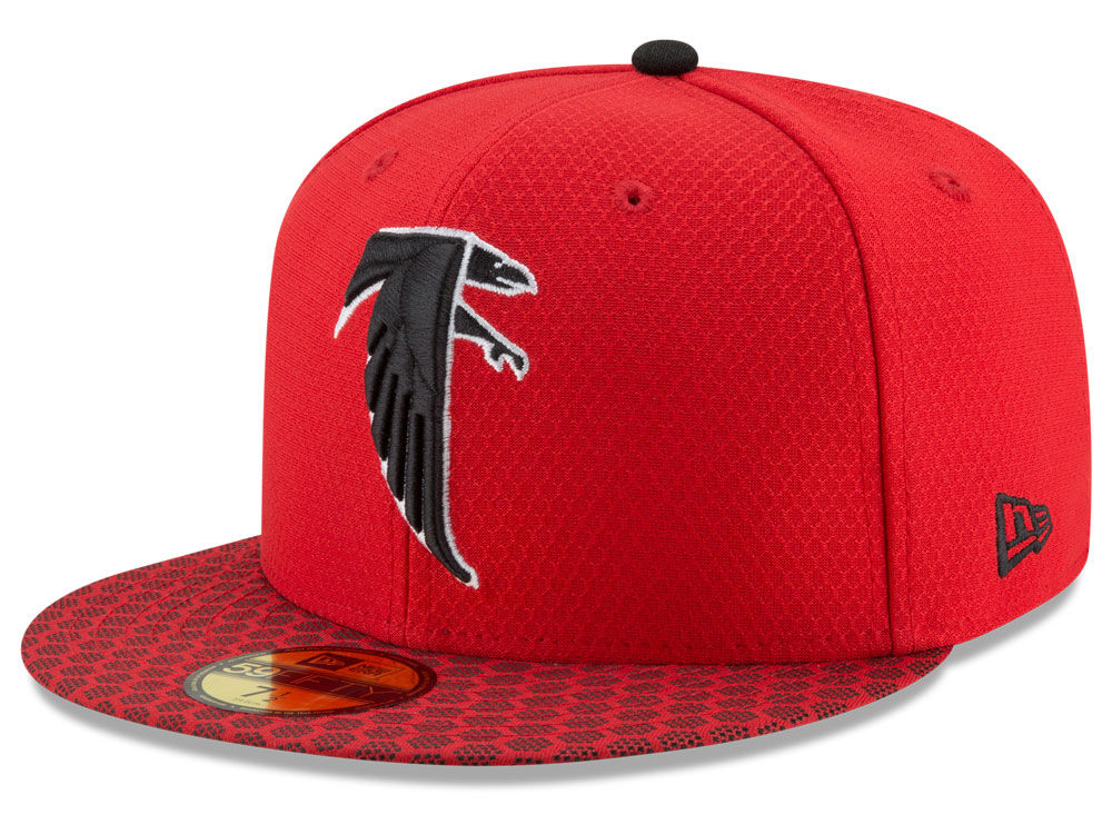 f5c9bedf6 Atlanta Falcons New Era 2017 Official NFL Sideline 59FIFTY Cap ...