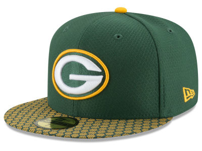 174d7f9b9 Green Bay Packers New Era 2017 Official NFL Sideline 59FIFTY Cap