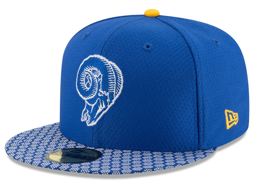 Los Angeles Rams New Era 2017 Official NFL Sideline 59FIFTY Cap ... ba17b0471