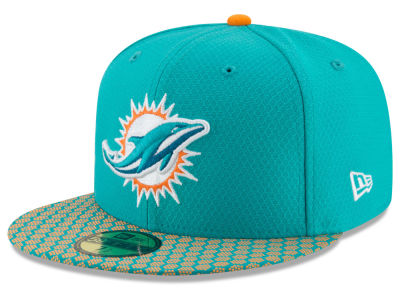Miami Dolphins New Era 2017 Official NFL Sideline 59FIFTY Cap