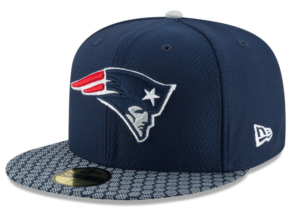 New England Patriots New Era 2017 Official NFL Sideline 59FIFTY Cap ... 9477a170e