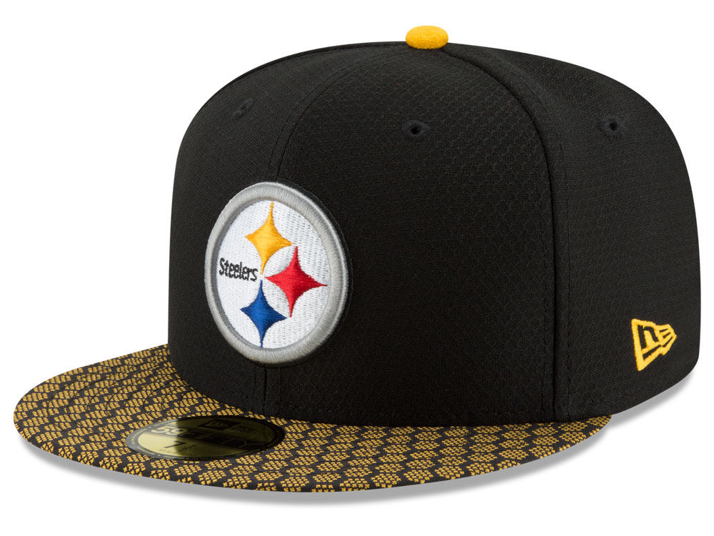 909954067ef Pittsburgh Steelers New Era 2017 Official NFL Sideline 59FIFTY Cap ...