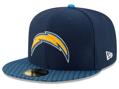 Los Angeles Chargers New Era 2017 Official NFL Sideline 59FIFTY Cap