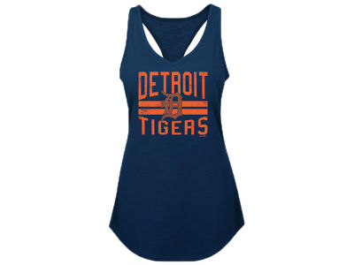 Detroit Tigers Majestic MLB Youth Girls Four Seamer Tank