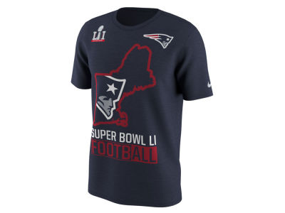 New England Patriots Nike NFL Men's Super Bowl LI Bound Local State T-Shirt