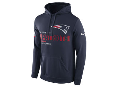 New England Patriots Nike NFL Men's Super Bowl LI Bound Travel Performance Circuit Hooded Sweatshirt