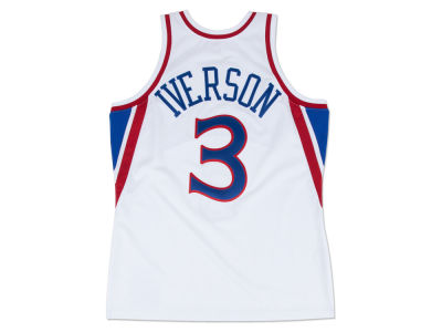 Philadelphia 76ers Mitchell and Ness NBA Men's Authentic Jersey