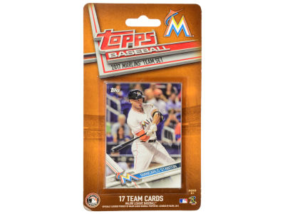 Miami Marlins Team Card Set - 2017