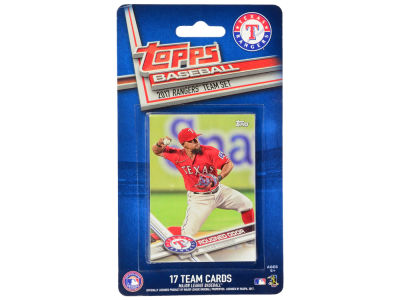 Texas Rangers Team Card Set - 2017