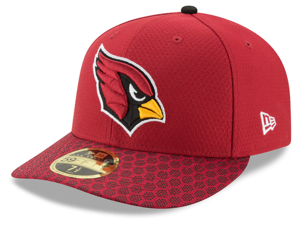 Arizona Cardinals New Era 2017 Official NFL Low Profile Sideline 59FIFTY Cap   a43e07145