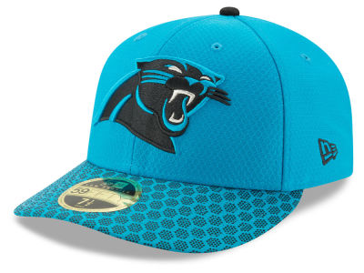 Carolina Panthers New Era 2017 Official NFL Low Profile Sideline 59FIFTY Cap