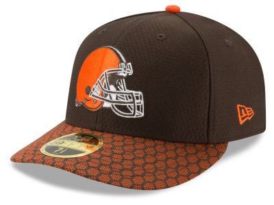 Cleveland Browns New Era 2017 Official NFL Low Profile Sideline 59FIFTY Cap