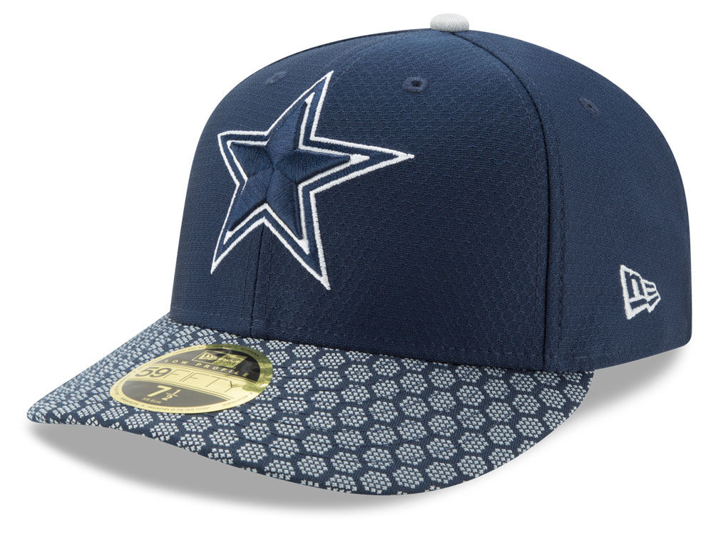 e4f08d06f Dallas Cowboys New Era 2017 Official NFL Low Profile Sideline 59FIFTY Cap