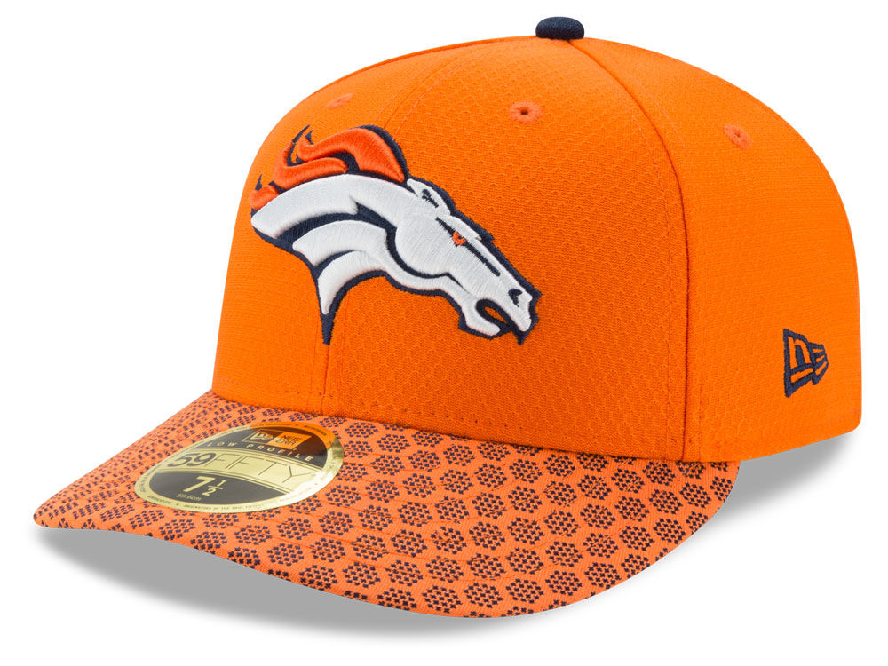 Denver Broncos New Era 2017 Official NFL Low Profile Sideline 59FIFTY Cap  6923d7f98
